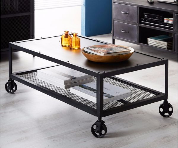 Indian Hub Metalica Iron Coffee Table