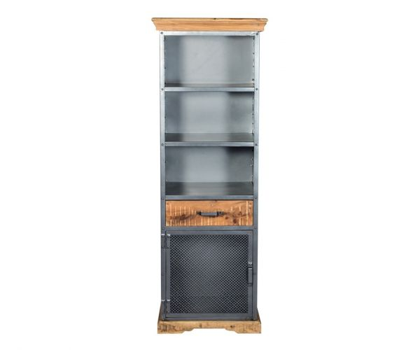 Indian Hub Metropolis Industrial Narrow Bookcase