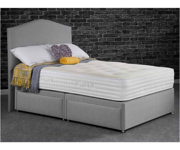 Sweet Dreams Mia Ortho Grey 2000 Pocket Sprung Divan Bed Set