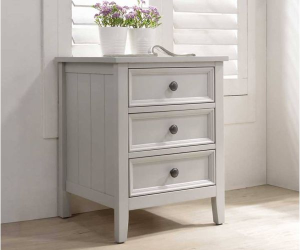Vida Living Mila Clay Painted 3 Drawer Bedside Table