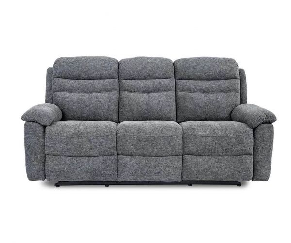 GFA Minnesota Nickel Fabric 3 Seater Sofa
