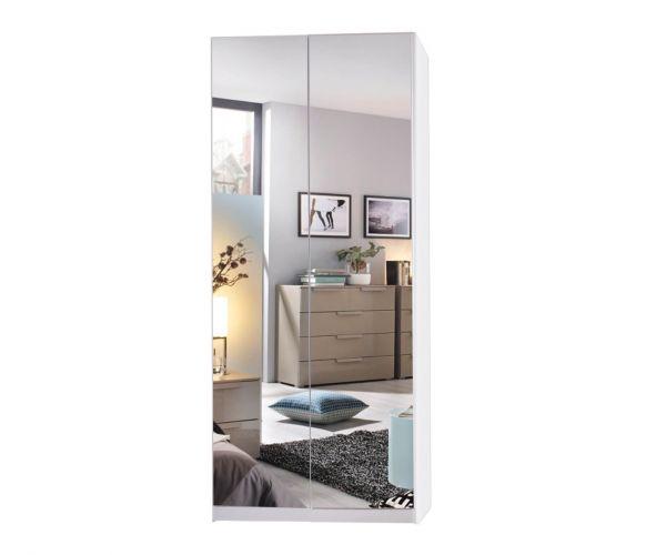 Rauch Miramar Silk Grey Carcase 2 Mirror Door Wardrobe