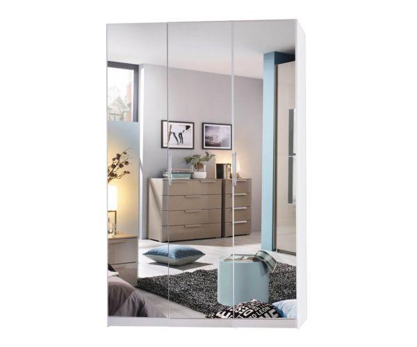 Rauch Miramar Silk Grey Carcase 3 Mirror Door Wardrobe
