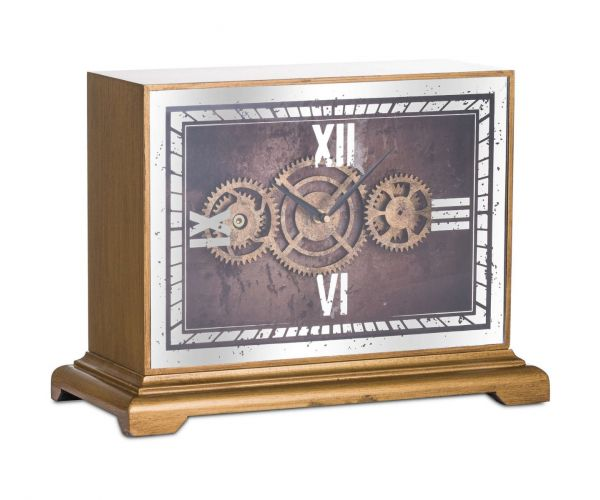Mirrored Moving Mechanism Mantel Clock