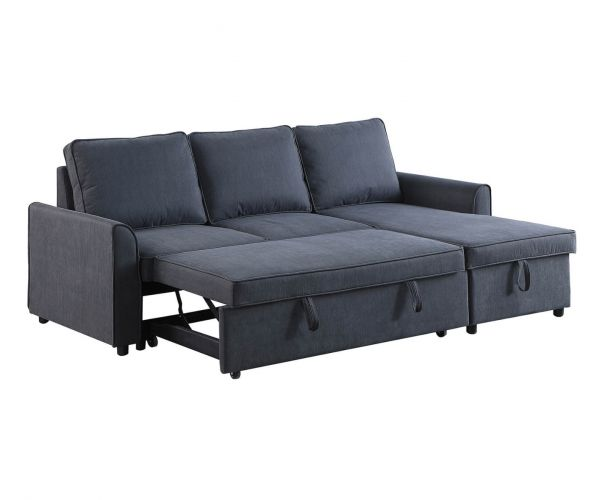 Sweet Dreams Missouri Fabric 3 Seater Chaise Sofa Bed