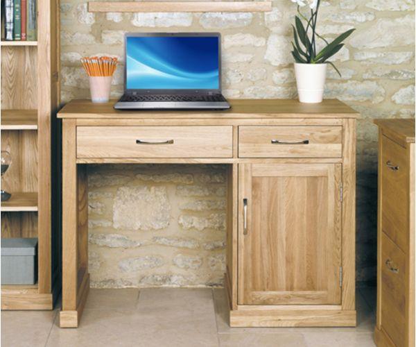 Baumhaus Mobel Oak Single Pedestal Computer Desk