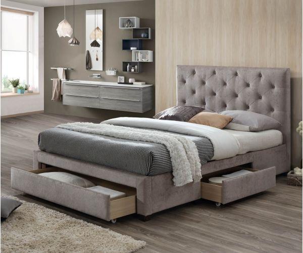 Limelight Monet Mink Fabric 3 Drawer Bed Frame