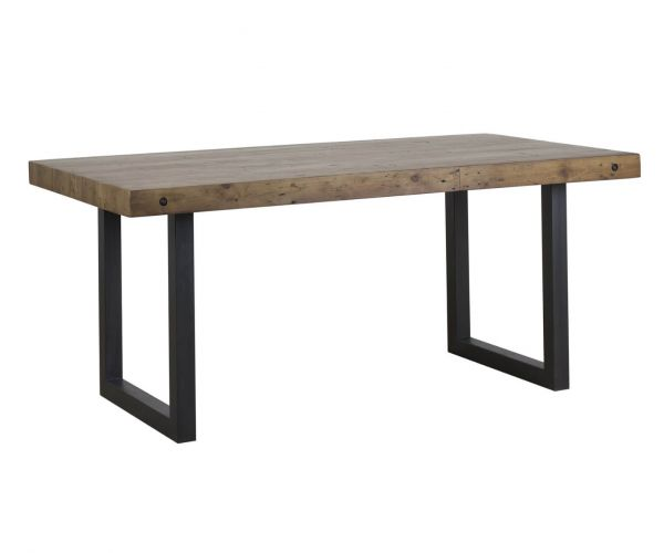 Mark Webster Montana Large Fixed Top Dining Table with Metal Legs
