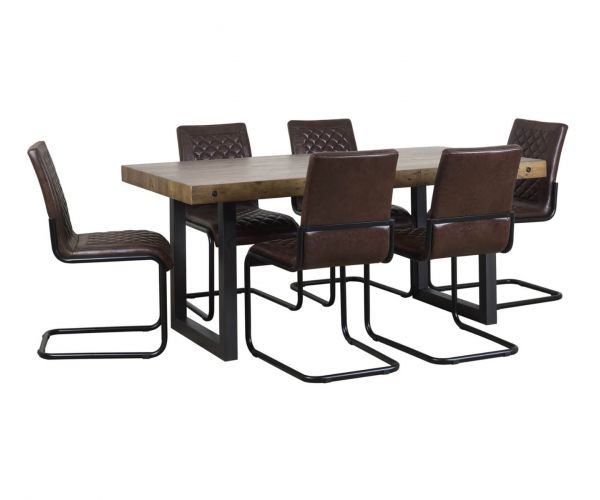 Mark Webster Montana Large Fixed Top Dining Set with 6 Dining Chairs