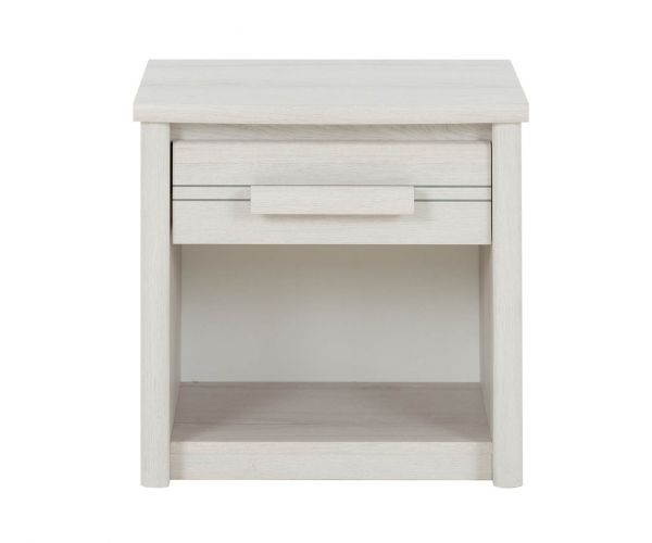 Gami Montana Whitewashed 1 Drawer Bedside Table