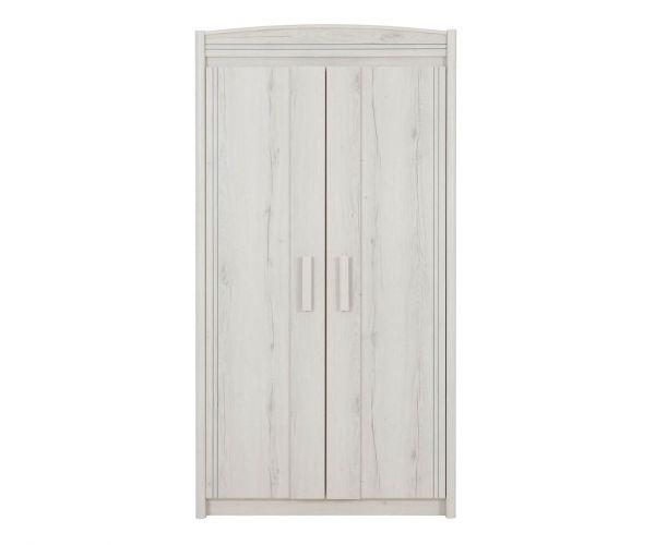 Gami Montana Whitewashed 2 Door Wardrobe