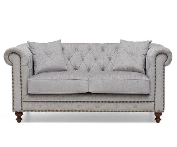 Mark Harris Montrose Grey Fabric 2 Seater Sofa