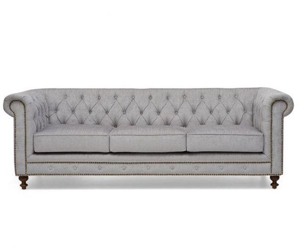 Mark Harris Montrose Grey Fabric 3 Seater Sofa
