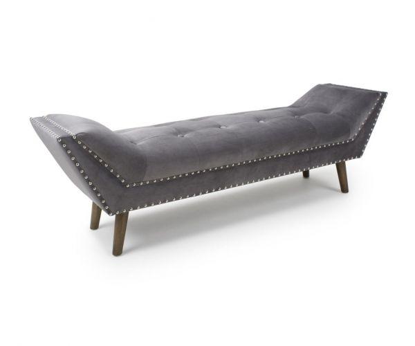 Shankar Montrose Grey Brushed Velvet Large Chaise