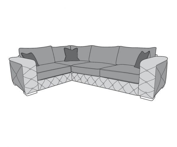 Buoyant Upholstery Monza Corner Sofa (L1, CO, R2)