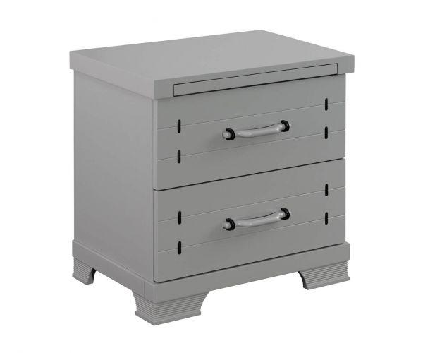 Sweet Dreams Mozart Grey 2 Drawer Bedside Cabinet
