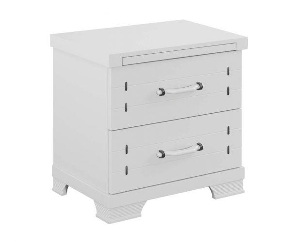 Sweet Dreams Dawson White 2 Drawer Bedside Cabinet