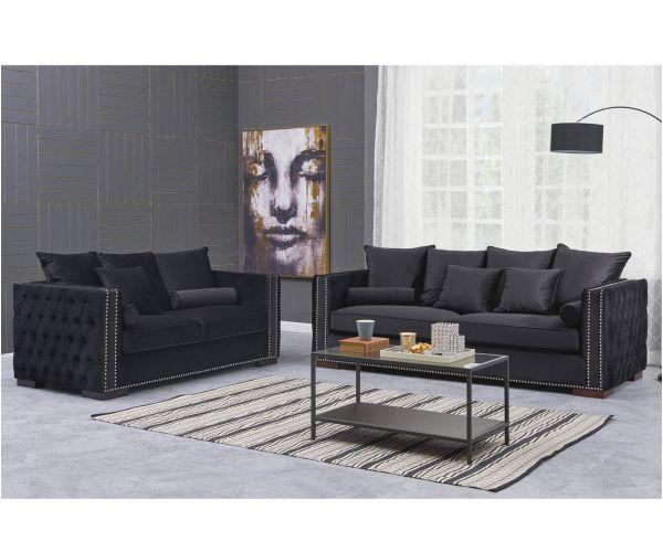 Derrys Furniture Moscow Black 3+2 Sofa Set