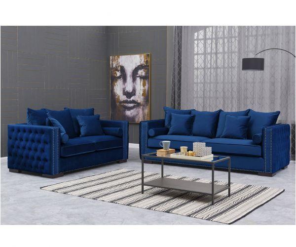 Derrys Furniture Moscow Royal Blue 3+2 Sofa Set