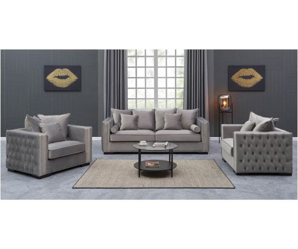 Derrys Furniture Moscow Silver 3+1+1 Sofa Set