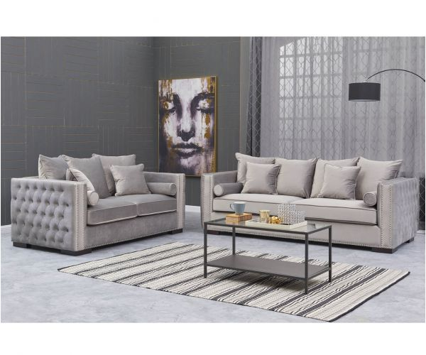 Derrys Furniture Moscow Silver 3+2 Sofa Set