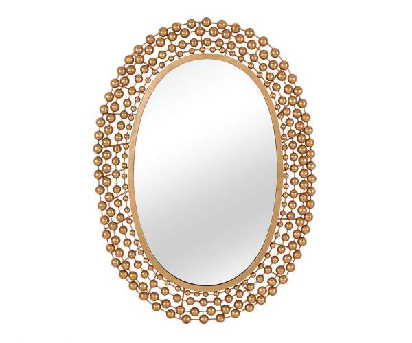 Serene Furnishings Nashik Gold Oval Wall Mirror