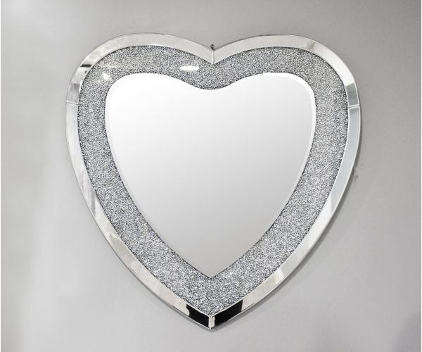 Derrys Furniture Crackle Heart Mirror