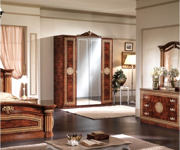 MCS New Alexandra Walnut Finish 4 Door Wardrobe