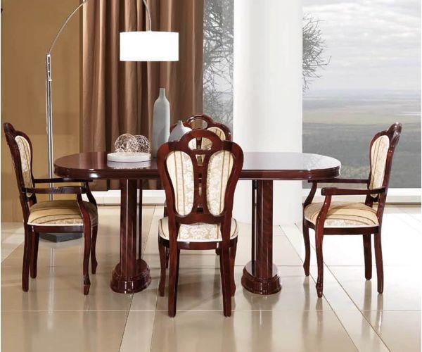 MCS Pamela Walnut Finish Oval Extension Dining Table