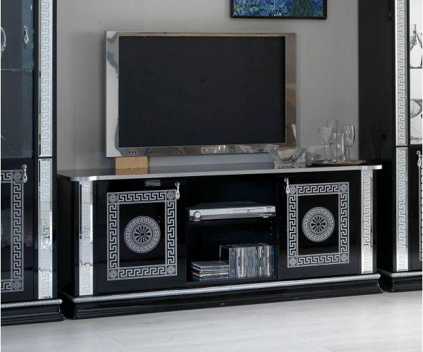 Ben Company New Venus Black and Silver Italian Plasma TV Cabinet