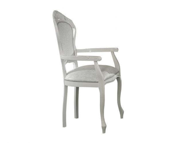 Ben Company New Venus White Italian Dining Armchair