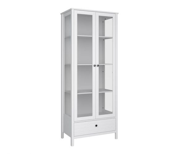 Steens New York 2 Door 1 Drawer Glazed Display Cabinet