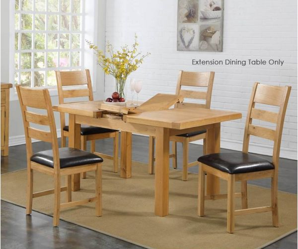 Annaghmore Newbridge 4x3 Extension Dining Table Only
