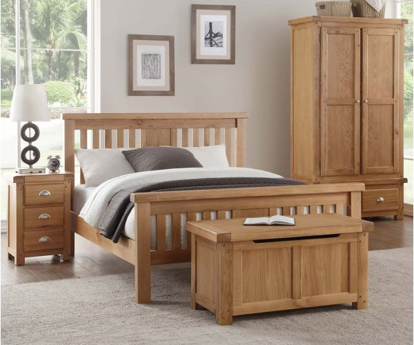 Annaghmore Newbridge Light Oak High Footend Bed Frame