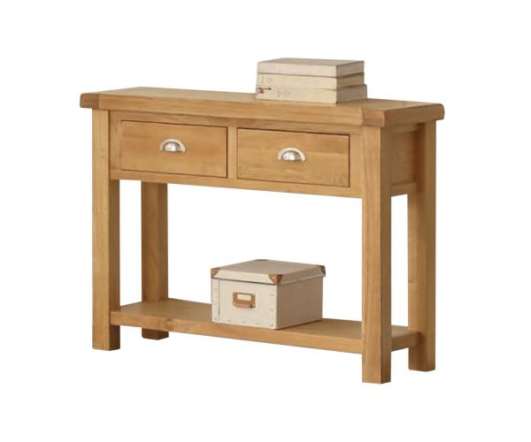 Annaghmore Newbridge Oak Large Hall Table with Drawer