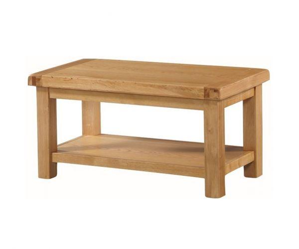 Annaghmore Newbridge Oak Large Coffee Table with Shelf