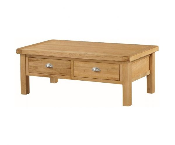 Annaghmore Newbridge Oak Large Coffee Table with 2 Drawer