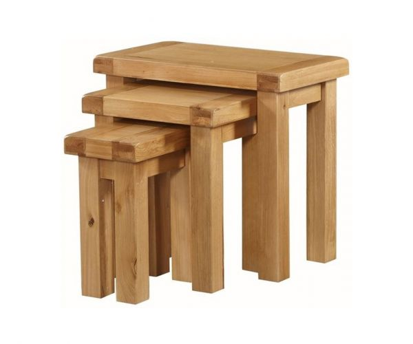 Annaghmore Newbridge Oak Nest of 3 Tables