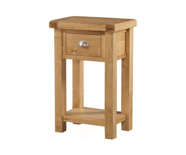 Annaghmore Newbridge Oak Telephone Table with Drawer