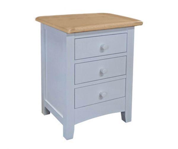 Sweet Dreams Newman Grey 3 Drawer Bedside Cabinet