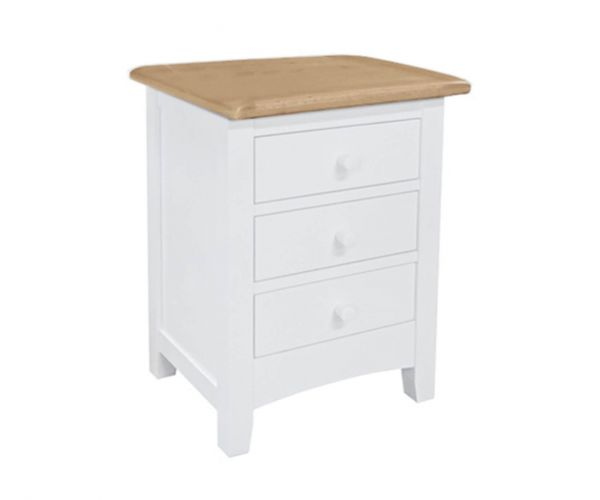 Sweet Dreams Newman White 3 Drawer Bedside Cabinet