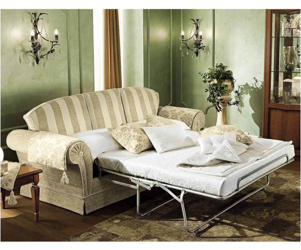 Camel Group Nostalgia Fabric 3 Seater Sofa Bed