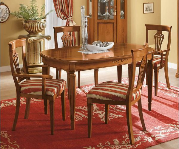 Camel Group Nostalgia Walnut Oval Extension Dining Table
