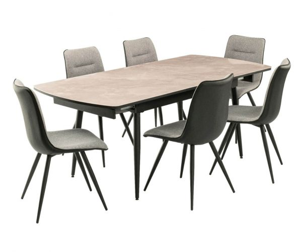 Derrys Furniture Nuna Extending Dining Table with 6 Chairs