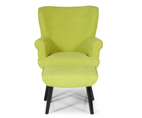 Serene Furnishings Oban Green Fabric Chair