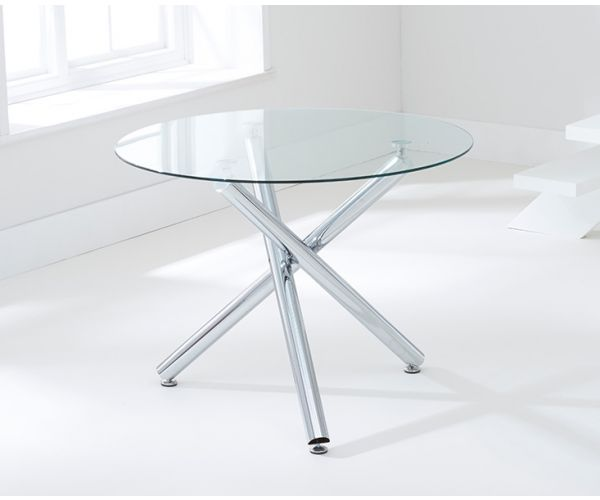 Mark Harris Odessa Round Glass Dining Table Only