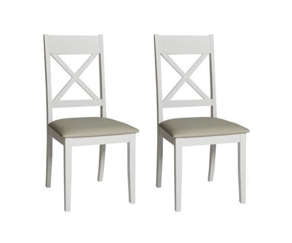 Furniture Line Ohio Cross Back Dining Chair in Pair