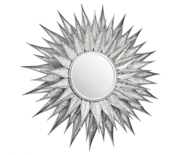 Ohlson Silver Large Sunburst Mirror