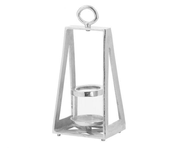 Ohlson Silver Pyramid Tea Light Lantern