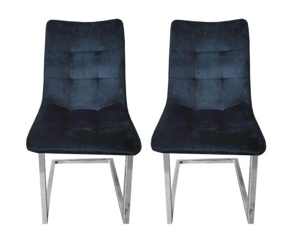 Derrys Furniture Ollie Royal Black Dining Chair in Pair